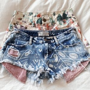 Size 24 Free People cut off short bundle